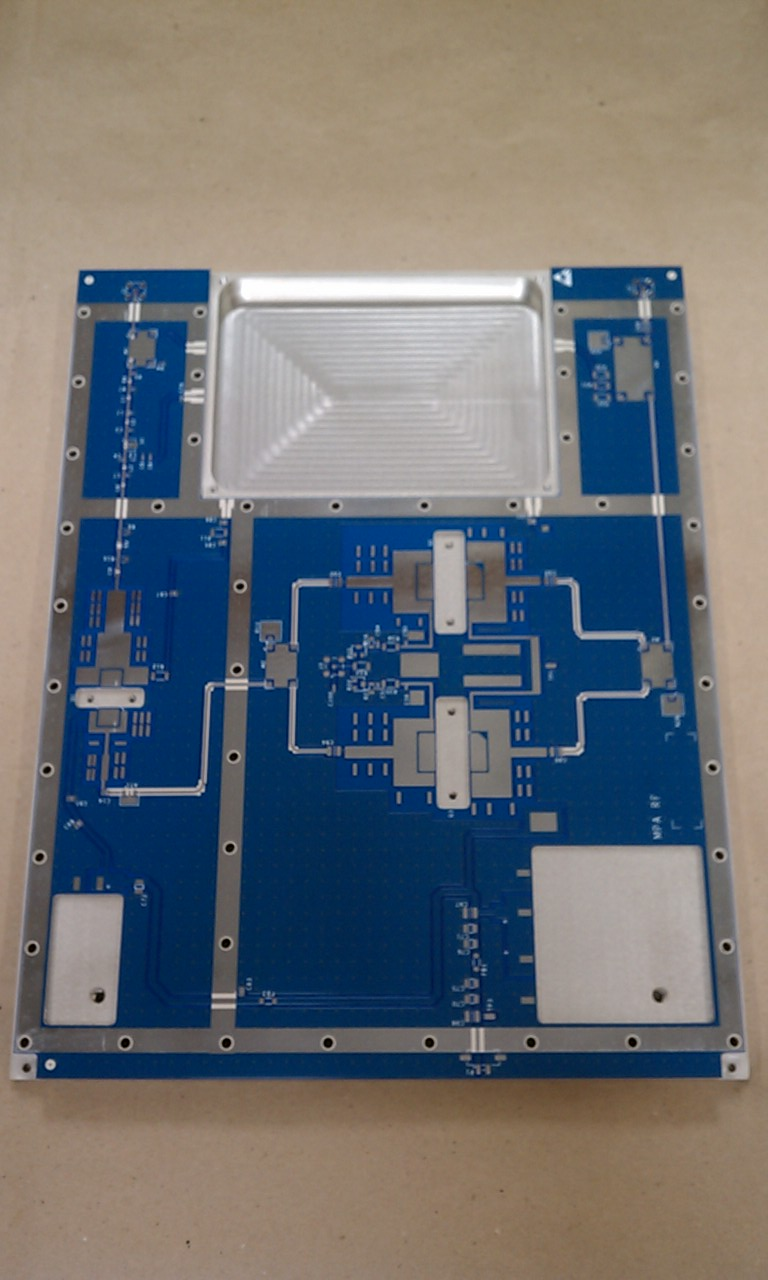 Board bonded to aluminim plate
